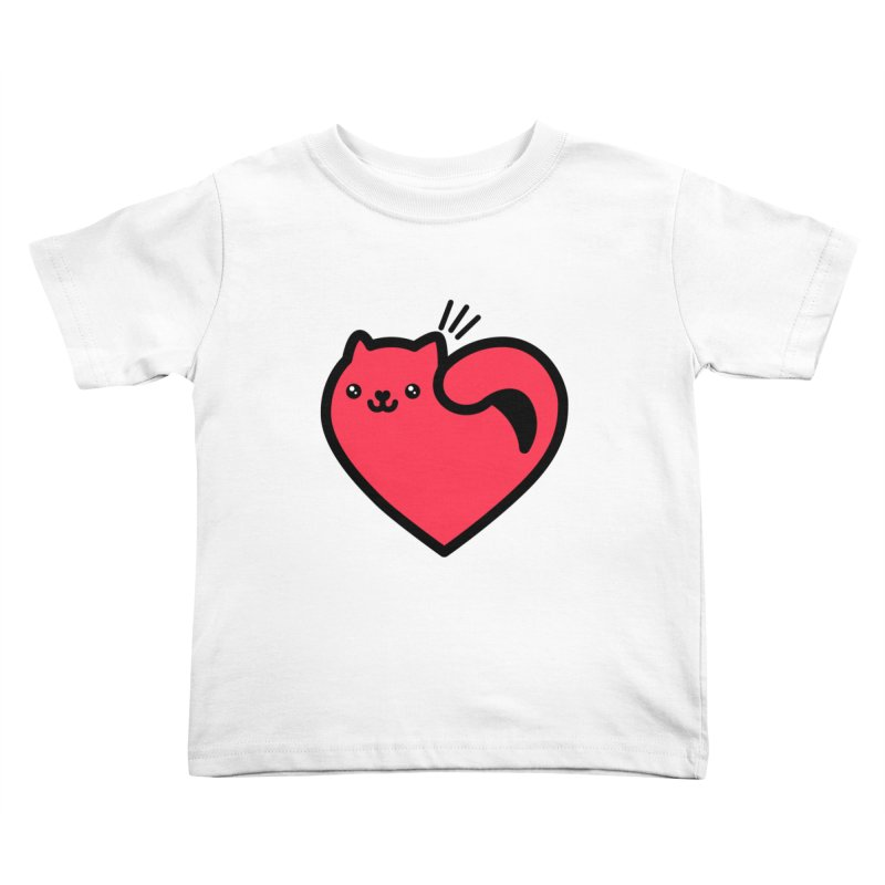 Lovely Kitty Kids Toddler T-Shirt by beatbeatwing's Artist Shop