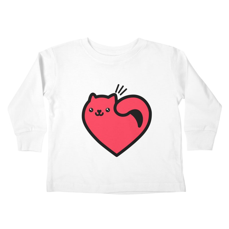 Lovely Kitty Kids Toddler Longsleeve T-Shirt by beatbeatwing's Artist Shop