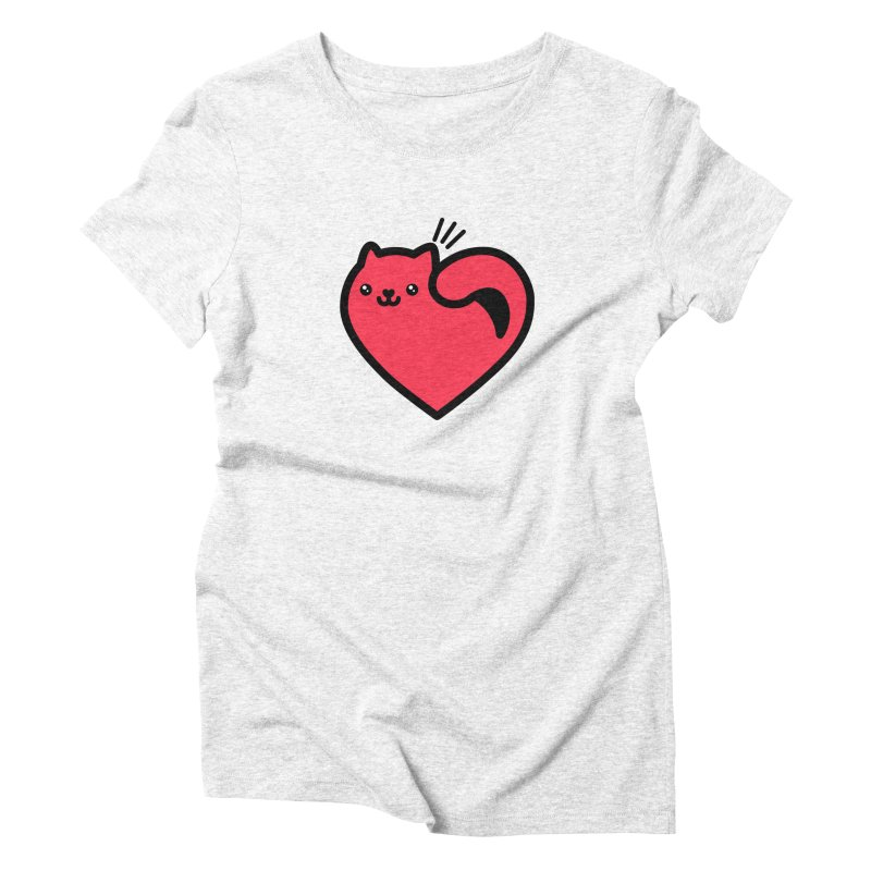 Lovely Kitty Women's Triblend T-shirt by beatbeatwing's Artist Shop