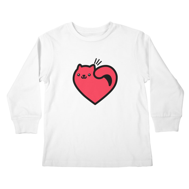 Lovely Kitty Kids Longsleeve T-Shirt by beatbeatwing's Artist Shop