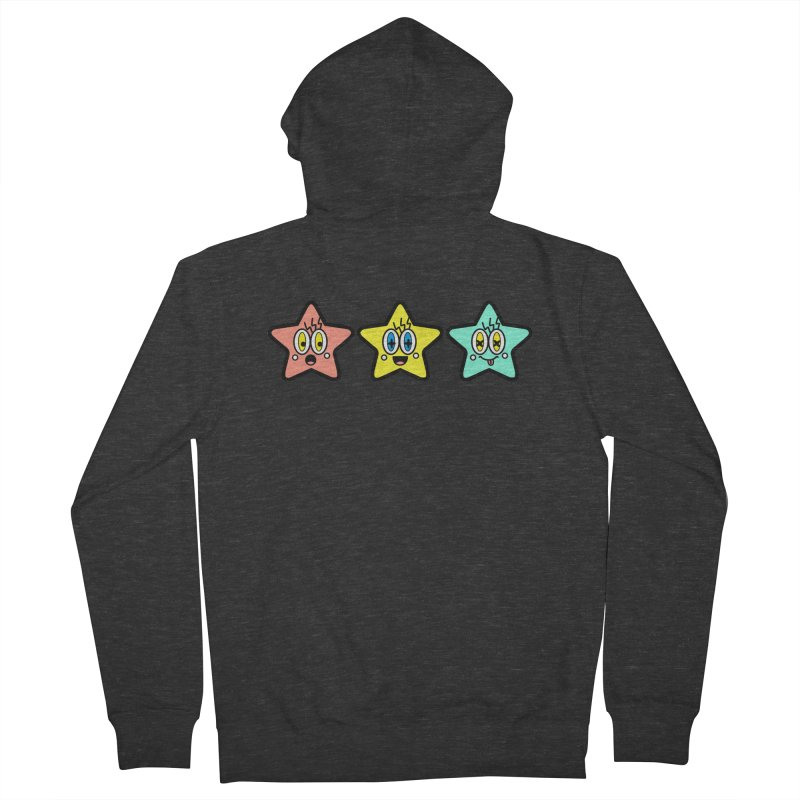 Amazing Stars Men's French Terry Zip-Up Hoody by beatbeatwing's Artist Shop