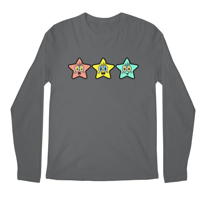 Amazing Stars Men's Regular Longsleeve T-Shirt by beatbeatwing's Artist Shop