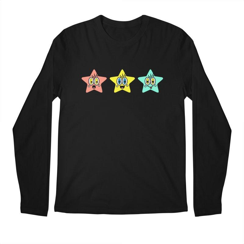 Amazing Stars Men's Regular Longsleeve T-Shirt by beatbeatwing's Artist Shop