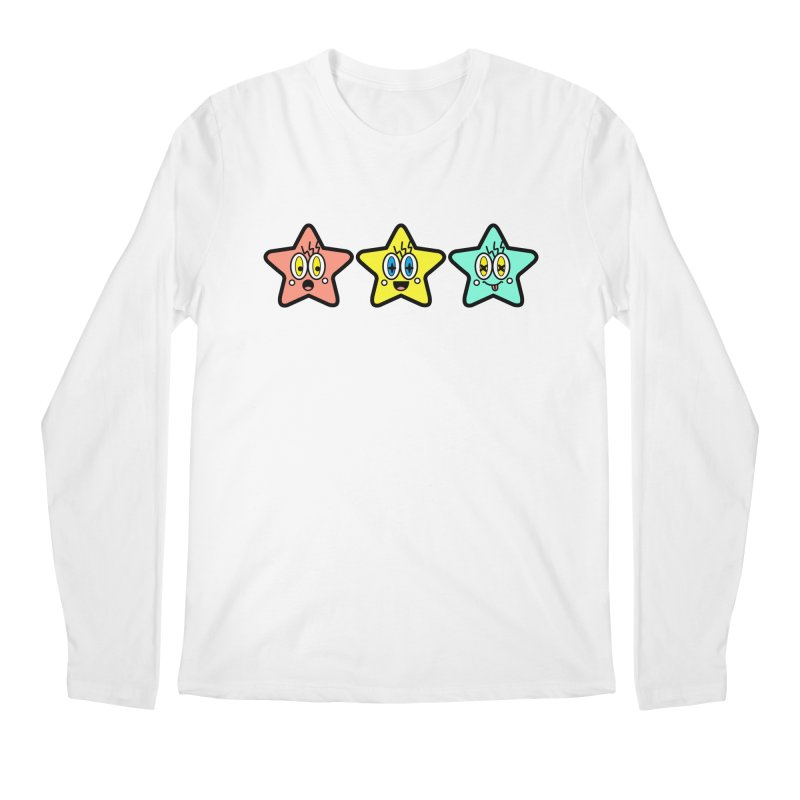 Amazing Stars Men's Longsleeve T-Shirt by beatbeatwing's Artist Shop