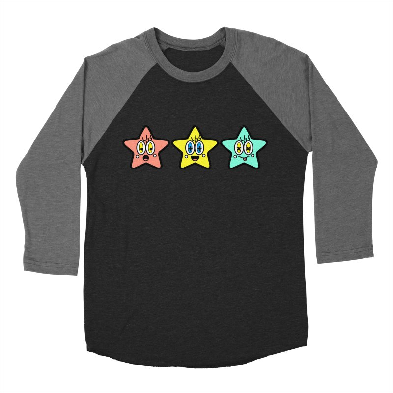 Amazing Stars Men's Baseball Triblend Longsleeve T-Shirt by beatbeatwing's Artist Shop