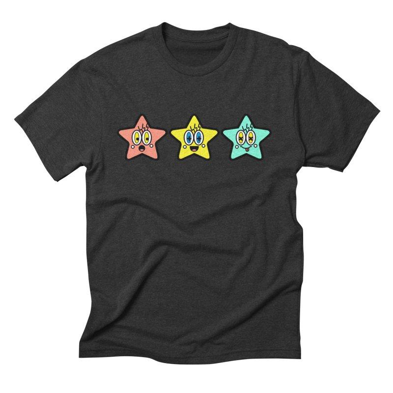 Amazing Stars Men's Triblend T-shirt by beatbeatwing's Artist Shop