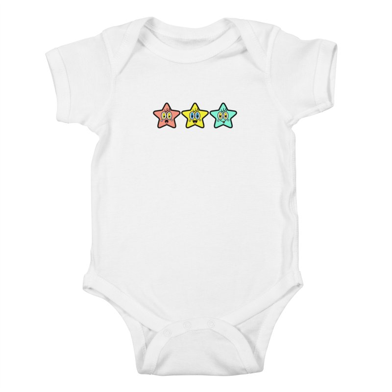 Amazing Stars Kids Baby Bodysuit by beatbeatwing's Artist Shop