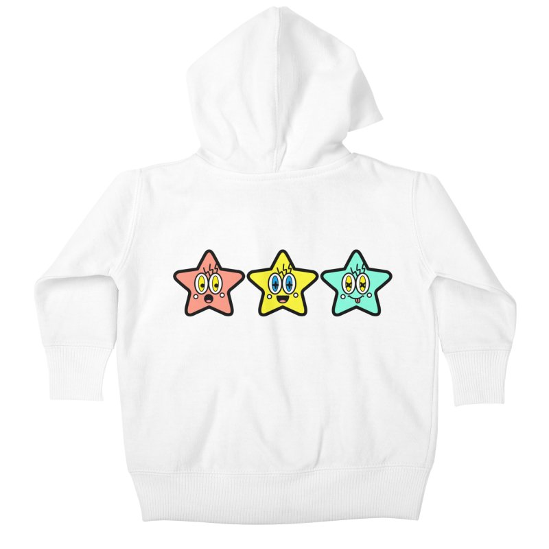 Amazing Stars Kids Baby Zip-Up Hoody by beatbeatwing's Artist Shop