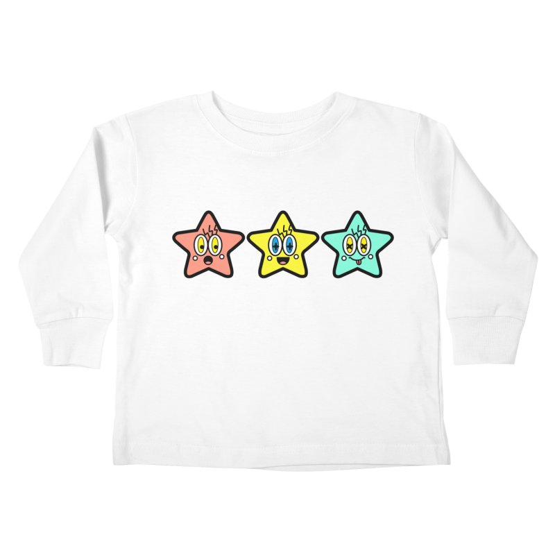 Amazing Stars Kids Toddler Longsleeve T-Shirt by beatbeatwing's Artist Shop