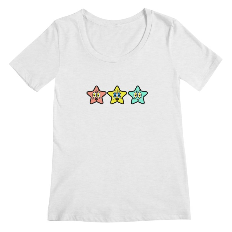 Amazing Stars Women's Regular Scoop Neck by beatbeatwing's Artist Shop