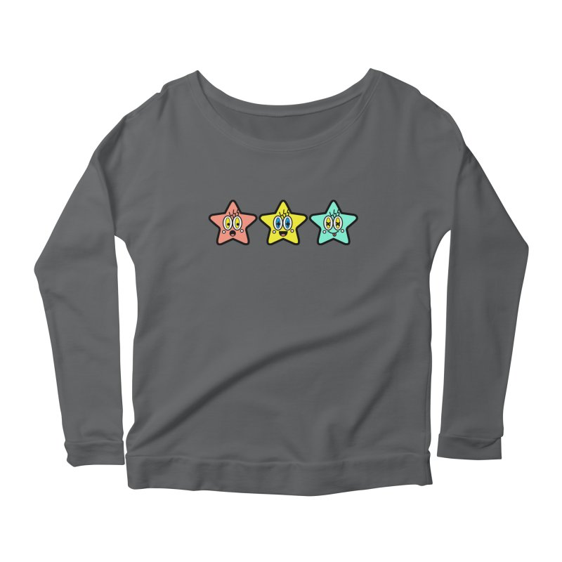 Amazing Stars Women's Scoop Neck Longsleeve T-Shirt by beatbeatwing's Artist Shop