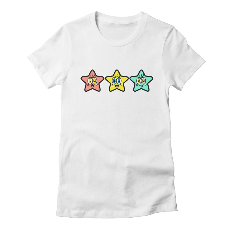 Amazing Stars Women's Fitted T-Shirt by beatbeatwing's Artist Shop