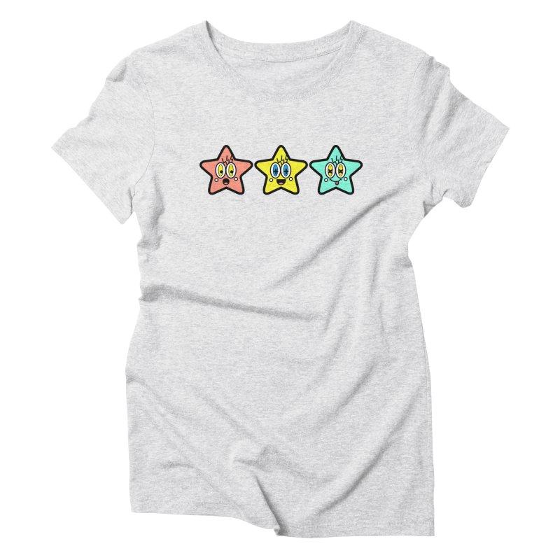 Amazing Stars Women's Triblend T-Shirt by beatbeatwing's Artist Shop