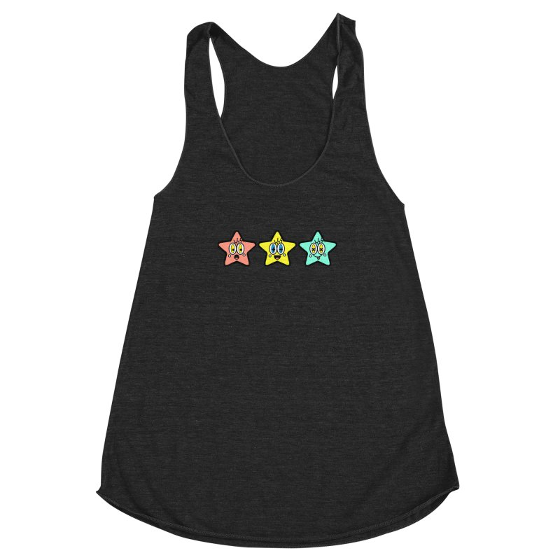 Amazing Stars Women's Racerback Triblend Tank by beatbeatwing's Artist Shop