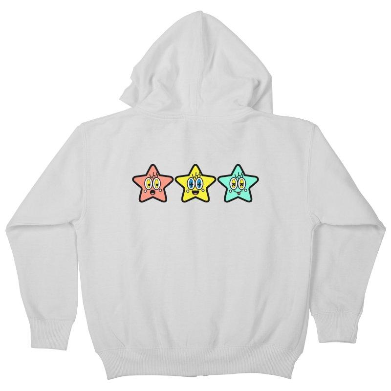 Amazing Stars Kids Zip-Up Hoody by beatbeatwing's Artist Shop