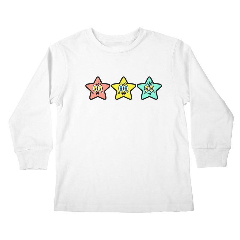 Amazing Stars Kids Longsleeve T-Shirt by beatbeatwing's Artist Shop