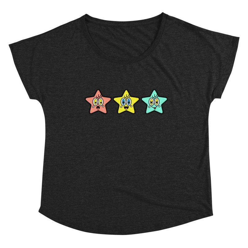 Amazing Stars Women's Scoop Neck by beatbeatwing's Artist Shop