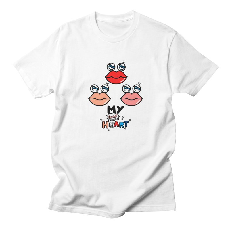My Sweet Heart Men's Regular T-Shirt by beatbeatwing's Artist Shop