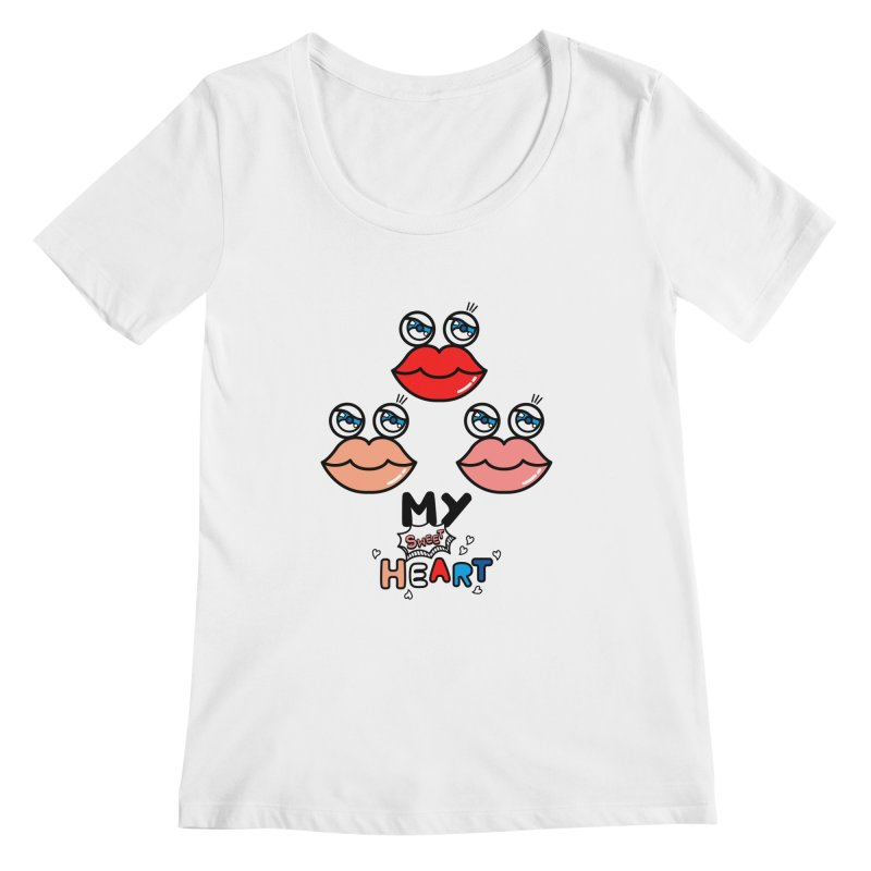 My Sweet Heart Women's Scoopneck by beatbeatwing's Artist Shop