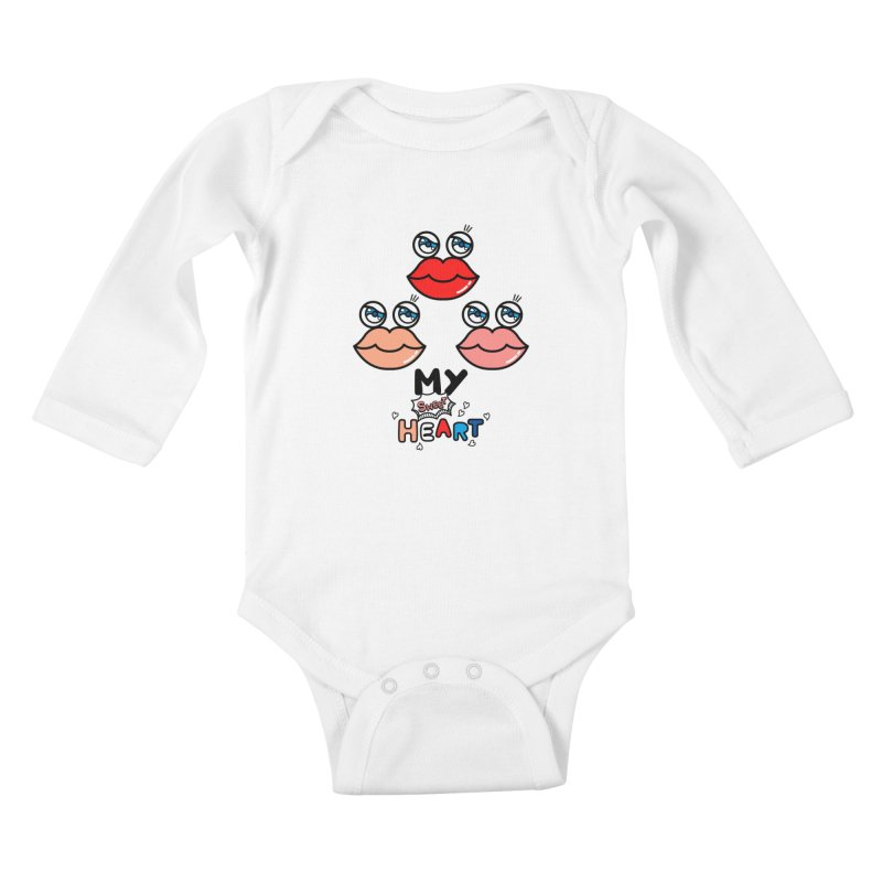 My Sweet Heart Kids Baby Longsleeve Bodysuit by beatbeatwing's Artist Shop