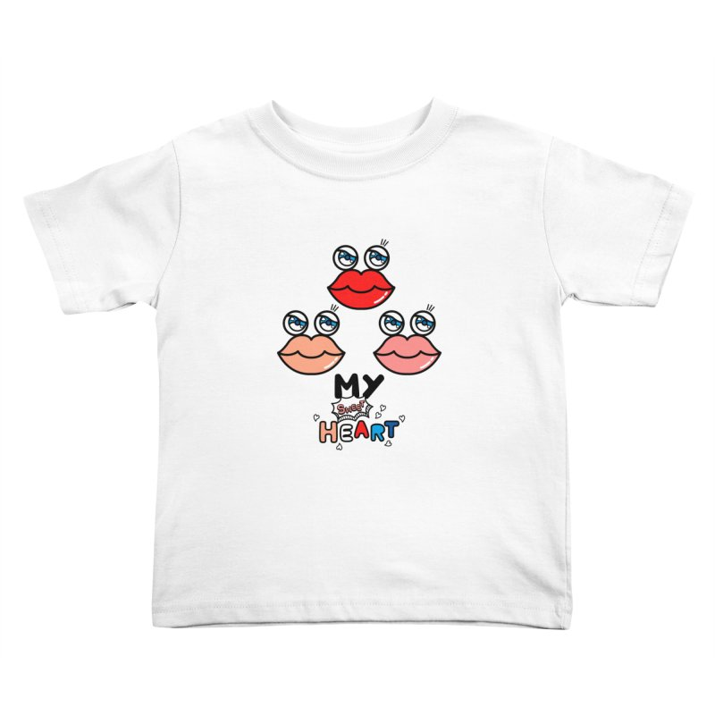 My Sweet Heart Kids Toddler T-Shirt by beatbeatwing's Artist Shop