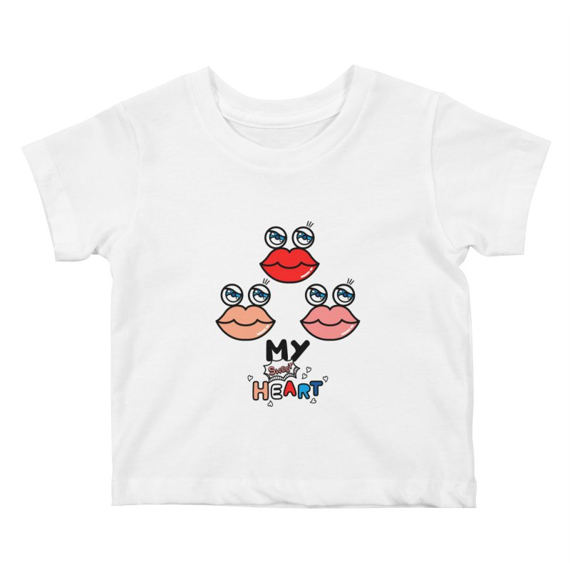 My Sweet Heart Kids Baby T-Shirt by beatbeatwing's Artist Shop