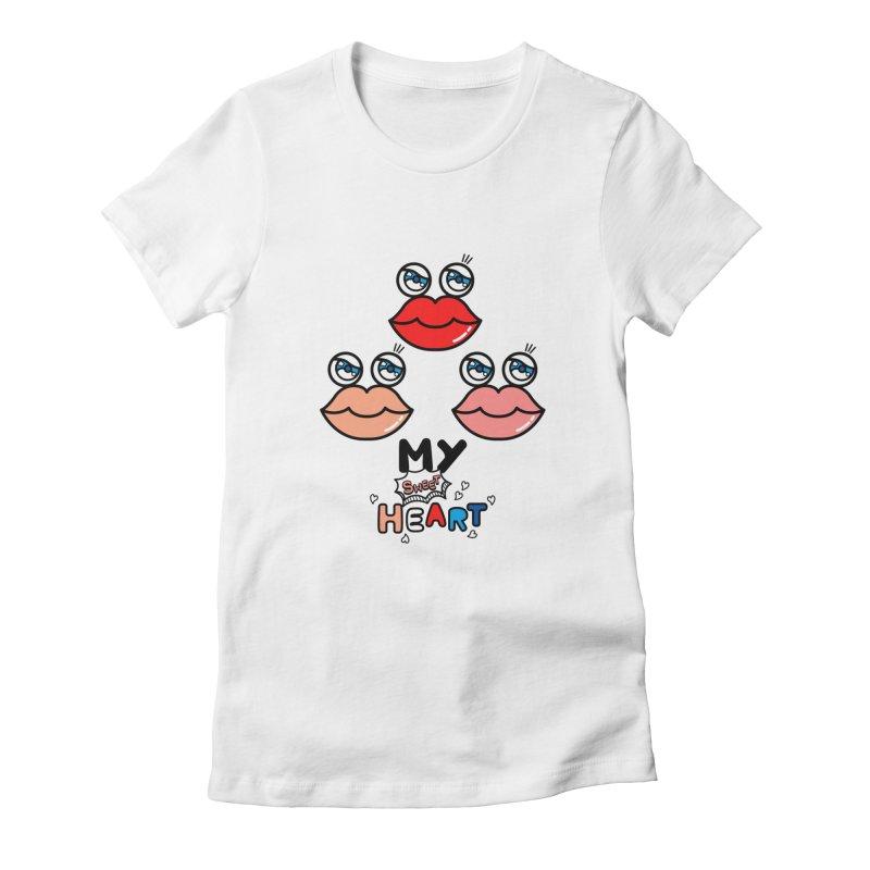 My Sweet Heart Women's T-Shirt by beatbeatwing's Artist Shop