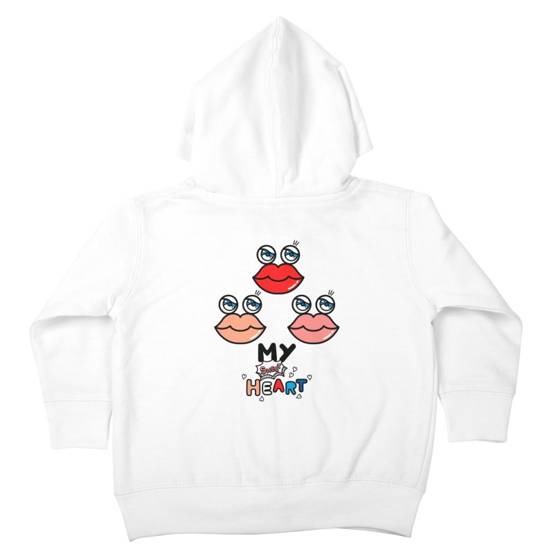 My Sweet Heart Kids Toddler Zip-Up Hoody by beatbeatwing's Artist Shop