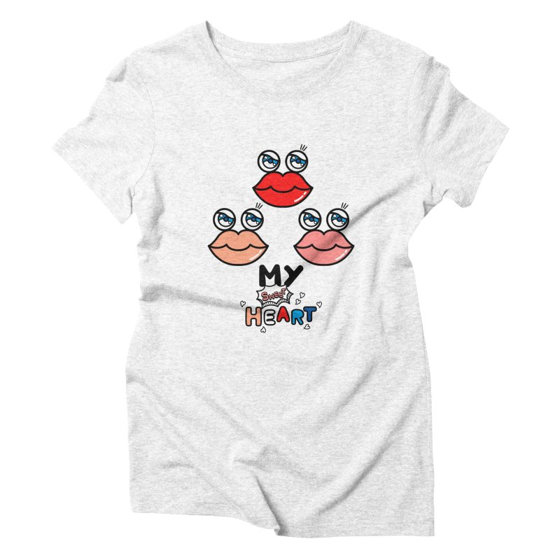My Sweet Heart Women's Triblend T-shirt by beatbeatwing's Artist Shop