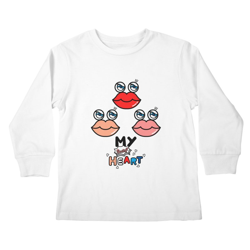 My Sweet Heart Kids Longsleeve T-Shirt by beatbeatwing's Artist Shop