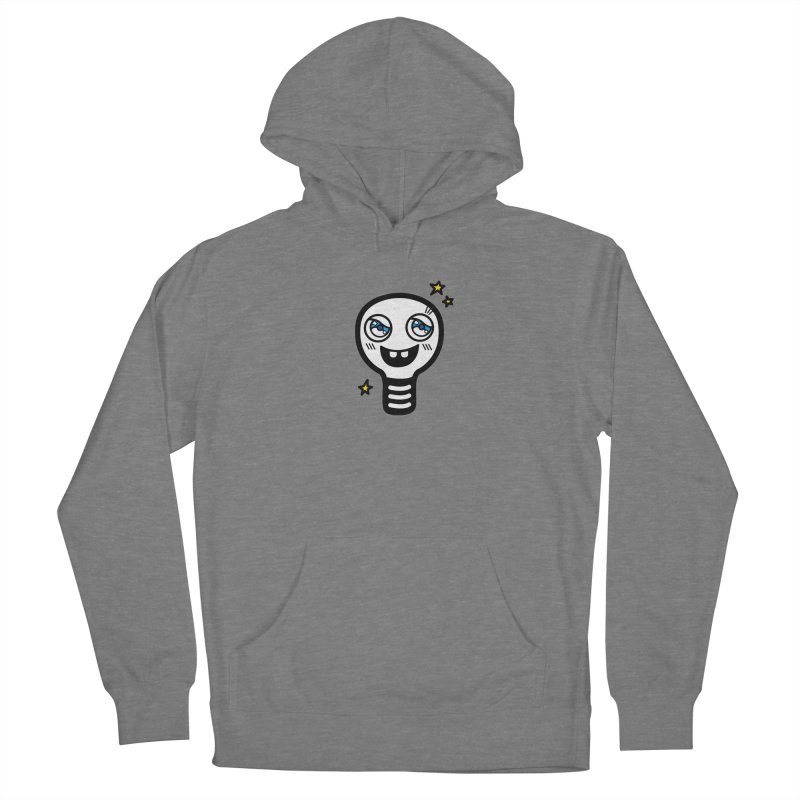 Shining light bulb Men's French Terry Pullover Hoody by beatbeatwing's Artist Shop