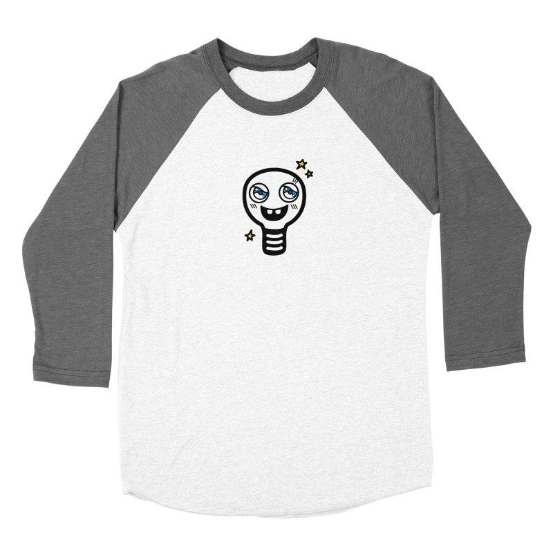 Shining light bulb Women's Baseball Triblend Longsleeve T-Shirt by beatbeatwing's Artist Shop