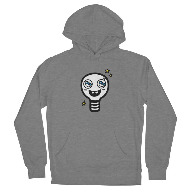Shining light bulb Women's French Terry Pullover Hoody by beatbeatwing's Artist Shop