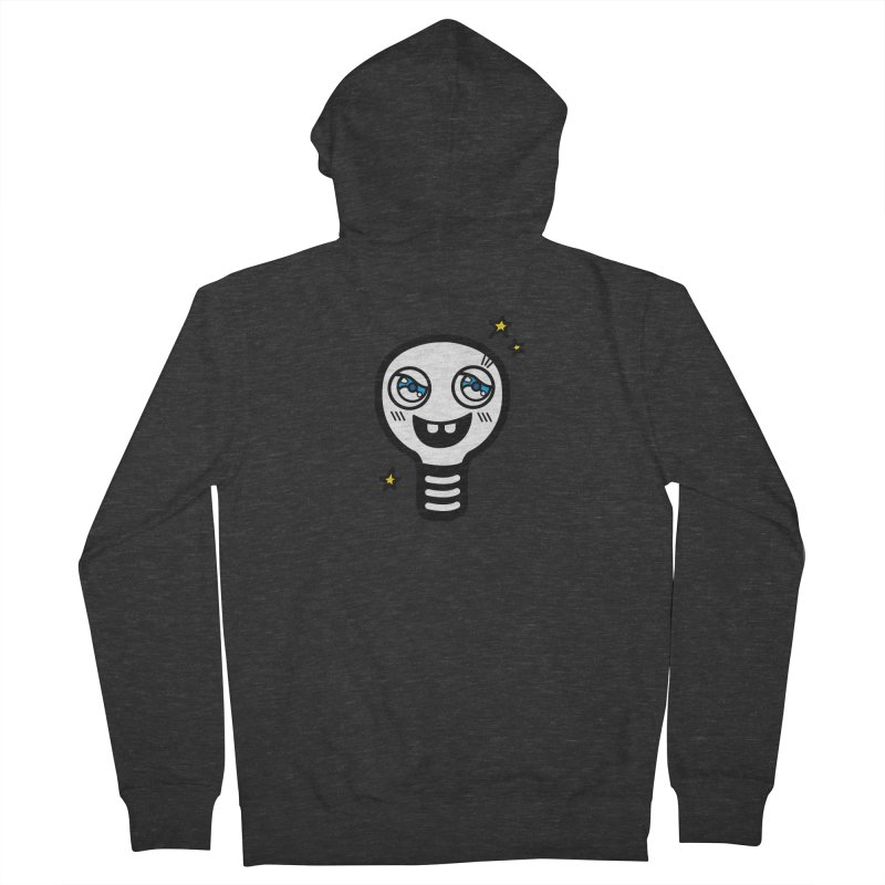 Shining light bulb Men's French Terry Zip-Up Hoody by beatbeatwing's Artist Shop
