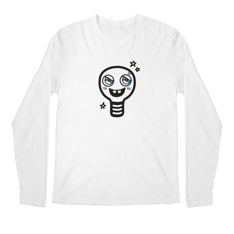 Shining light bulb Men's Regular Longsleeve T-Shirt by beatbeatwing's Artist Shop