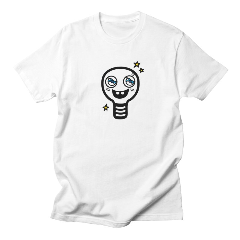 Shining light bulb Men's Regular T-Shirt by beatbeatwing's Artist Shop