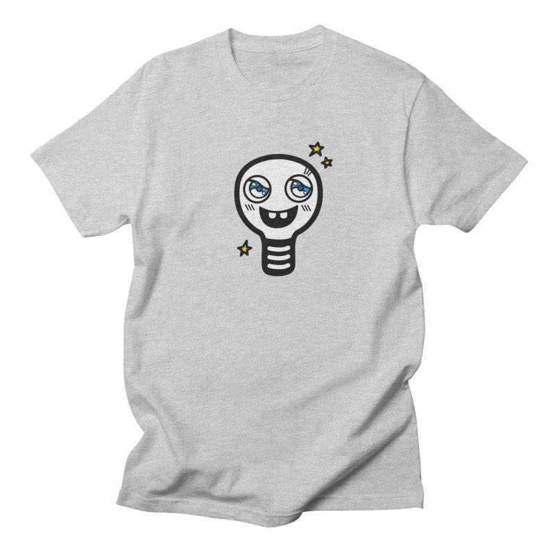 Shining light bulb Men's Regular T-Shirt by beatbeatwing's Artist Shop