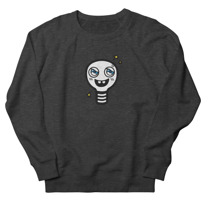 Shining light bulb Women's French Terry Sweatshirt by beatbeatwing's Artist Shop