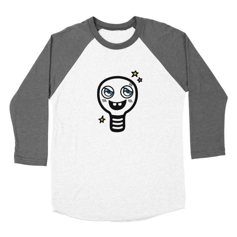 Shining light bulb Men's Baseball Triblend Longsleeve T-Shirt by beatbeatwing's Artist Shop