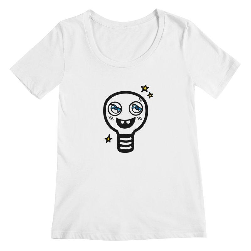 Shining light bulb Women's Regular Scoop Neck by beatbeatwing's Artist Shop
