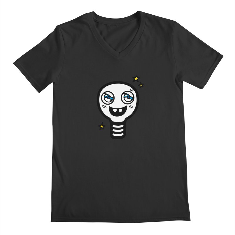 Shining light bulb Men's Regular V-Neck by beatbeatwing's Artist Shop