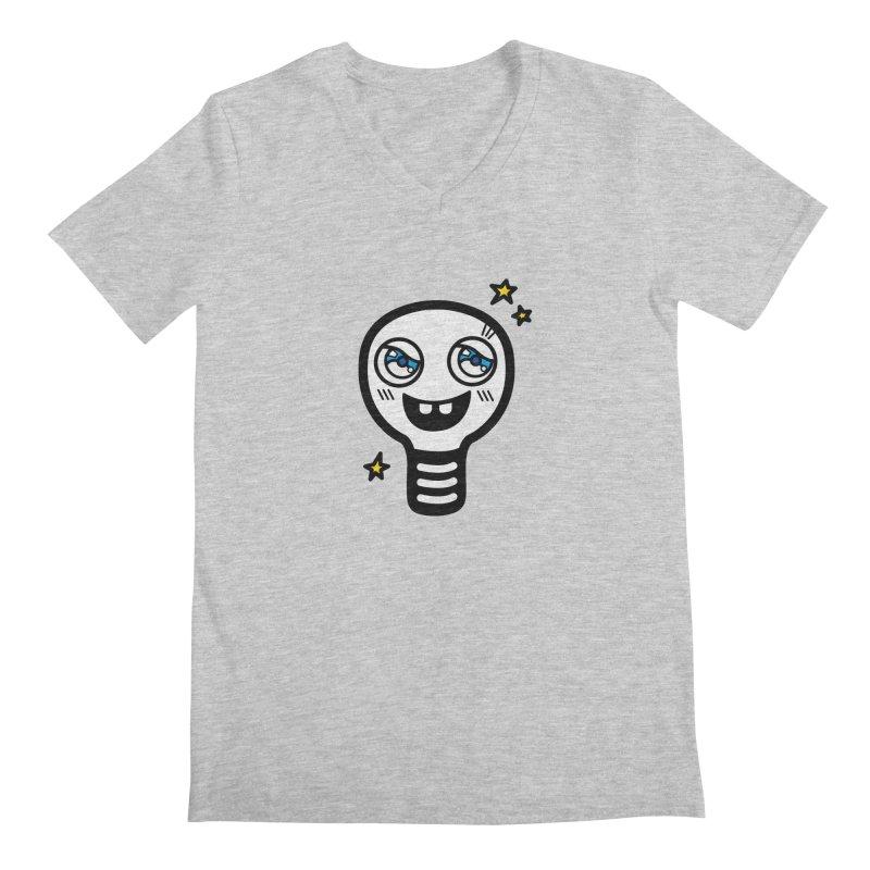 Shining light bulb Men's Regular V-Neck by beatbeatwing's Artist Shop
