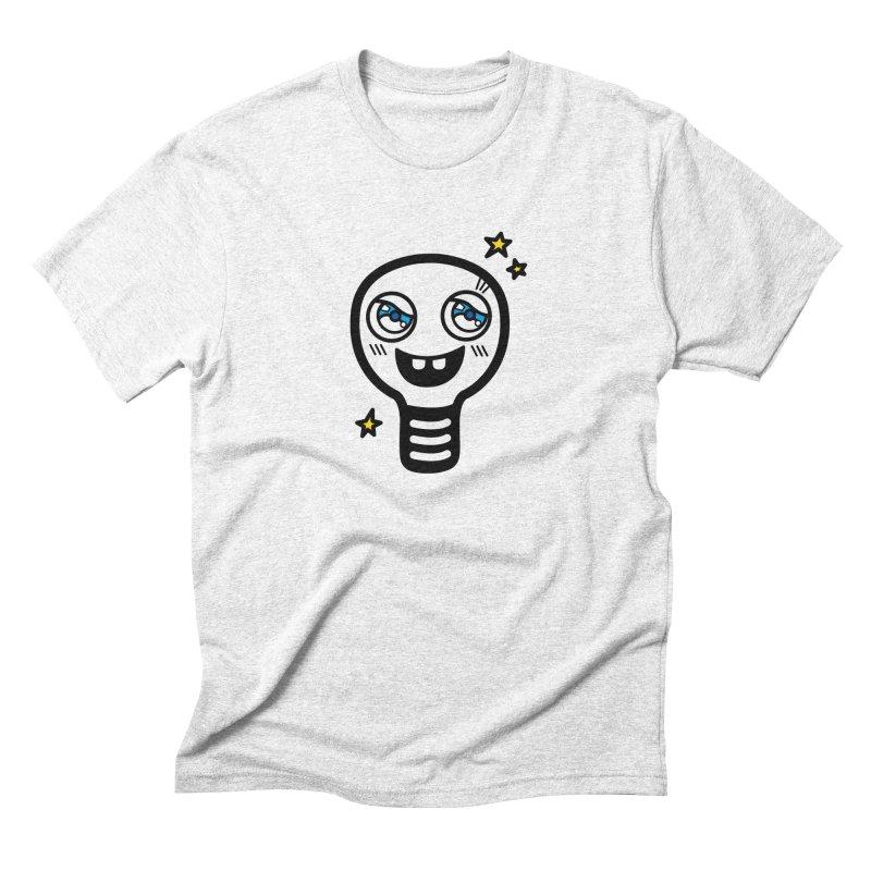 Shining light bulb Men's Triblend T-shirt by beatbeatwing's Artist Shop