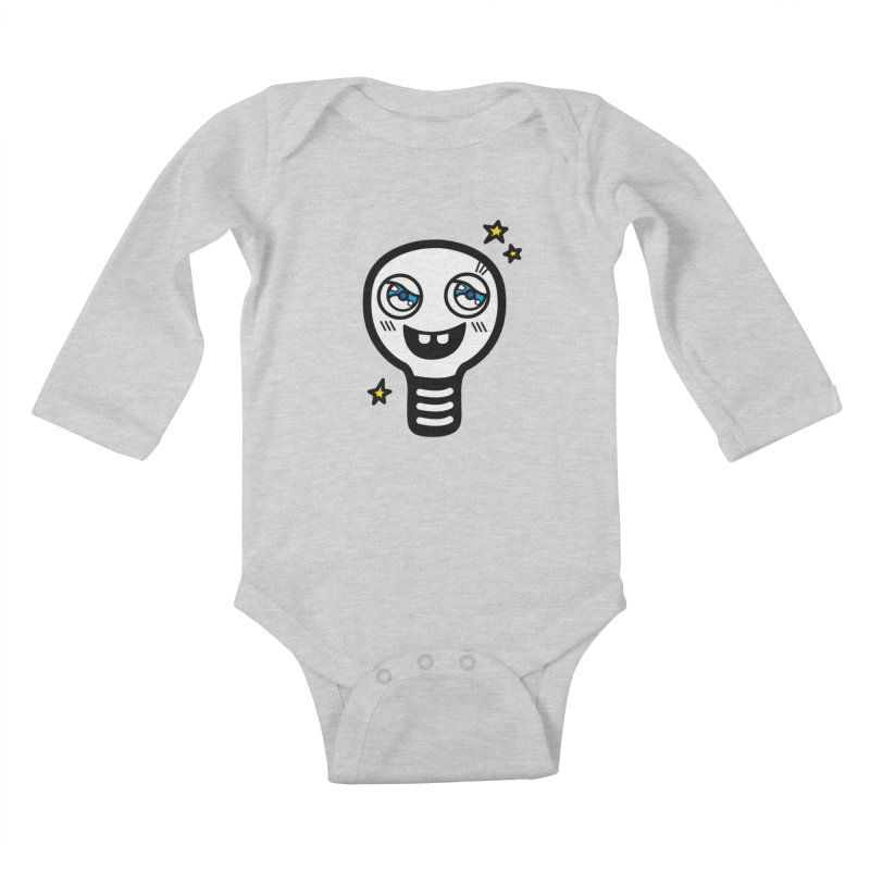 Shining light bulb Kids Baby Longsleeve Bodysuit by beatbeatwing's Artist Shop