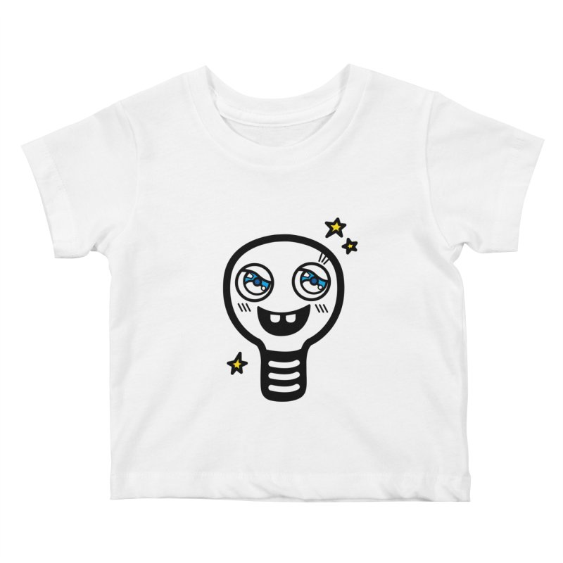 Shining light bulb Kids Baby T-Shirt by beatbeatwing's Artist Shop