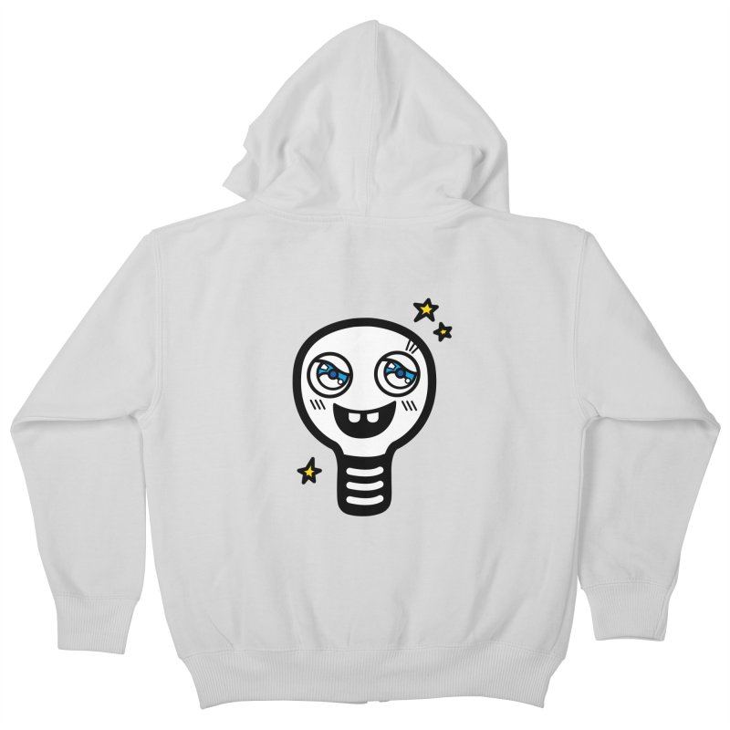 Shining light bulb Kids Zip-Up Hoody by beatbeatwing's Artist Shop