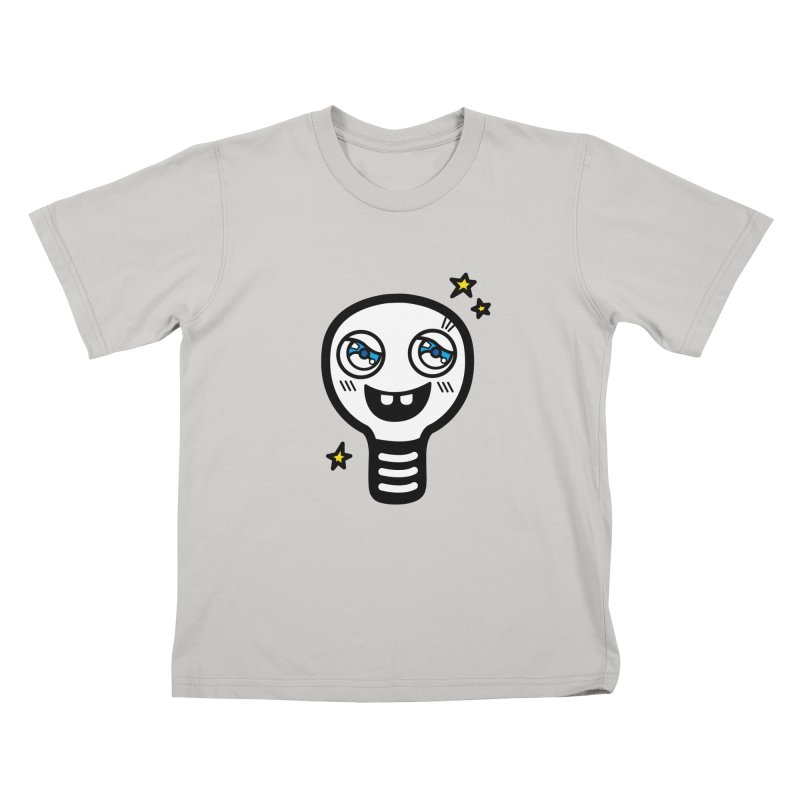 Shining light bulb Kids T-shirt by beatbeatwing's Artist Shop