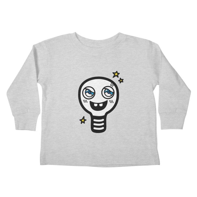 Shining light bulb Kids Toddler Longsleeve T-Shirt by beatbeatwing's Artist Shop