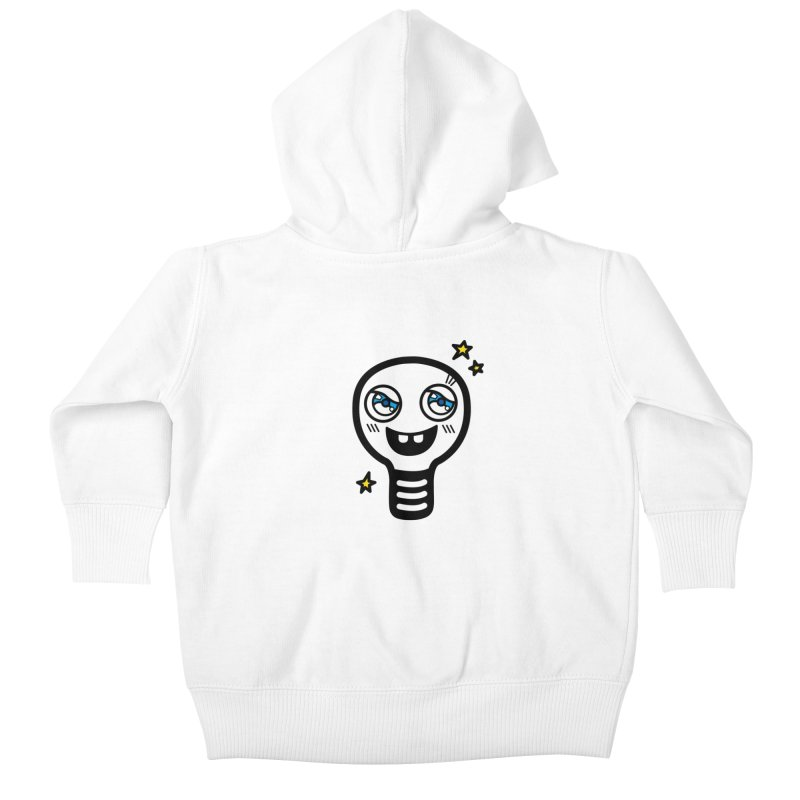 Shining light bulb Kids Baby Zip-Up Hoody by beatbeatwing's Artist Shop
