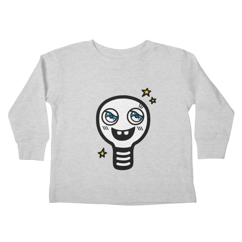 Shining light bulb Kids Toddler Longsleeve T-Shirt by beatbeatwing's Artist Shop